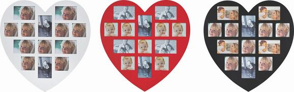 Bilderrahmen Heart, ca. 60x59cm - Rot/Schwarz, ROMANTIK / LANDHAUS, Holzwerkstoff/Kunststoff (60/59cm) - MÖMAX modern living