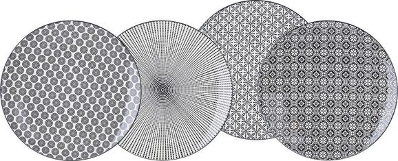 Plitvi Krožnik Shiva - črna/bela, Trendi, keramika (26/2,5cm) - Mömax modern living