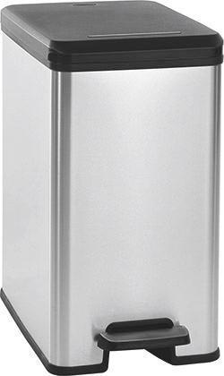 Pedálos Szemetes Slim Bin 25l - fekete/ezüst színű (25/45/39cm)