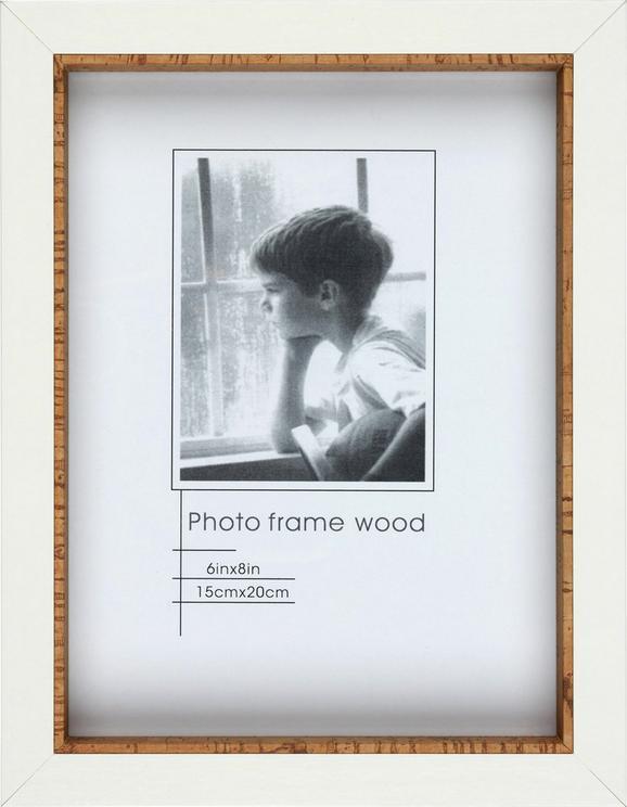 Bilderrahmen Roody Braun/Weiß 17x22cm - Braun, Glas/Holz (17/22/3cm) - MÖMAX modern living