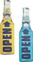 Fali Dekoráció Üvegnyitó - Sárga/Kék, Lifestyle, Fa/Fém (10,5/40cm) - Mömax modern living