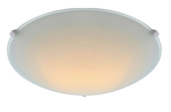Deckenleuchte Maggie - Weiß, KONVENTIONELL, Glas/Metall (25/6,5cm) - BASED