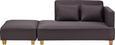 Chaiselongue inkl. Hocker Violetta - Grau, MODERN, Holz/Textil (131/92/68cm) - Mömax modern living