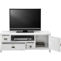 tv mobel lewis vintage weiss modern holz metall 124