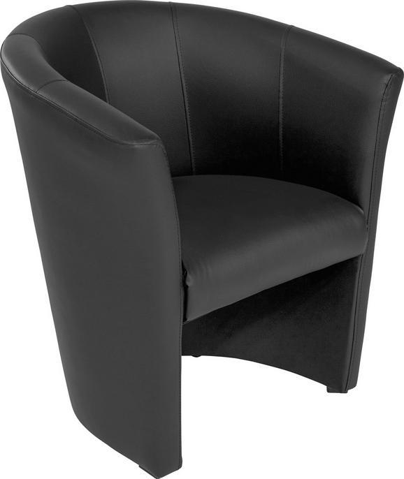 Fotelj Hugo - črna, Basics, umetna masa/tekstil (69/76/59cm) - Mömax modern living