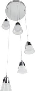 Pendelleuchte Romi mit Led 5-flammig - Chromfarben, MODERN, Kunststoff/Metall (33/33/120cm) - Premium Living