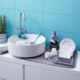 Seifenspender Ute Grau - Grau, MODERN, Keramik/Kunststoff (12,7/10,2/20,3cm) - Premium Living