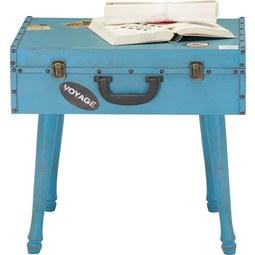 KISASZTAL MALETA - világos kék/fekete, romantikus/Landhaus, fém/faanyagok (49/39,5/45,5cm) - premium living