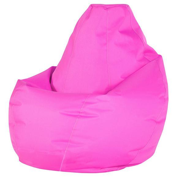 Sac De Şezut Soft L - roz aprins, Modern, textil (120cm) - Modern Living