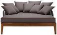 Sonneninsel Viola inkl. 8 Zierkissen - Akaziefarben/Grau, MODERN, Holz/Kunststoff (180/75/157cm) - MODERN LIVING