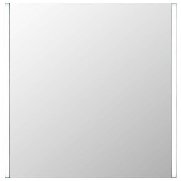 Leuchtspiegel in Weiß ca. 63x65cm - MODERN, Glas (63/65/3cm)