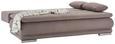 Trosjed Na Razvlačenje Clip - smeđa/boje aluminija, ROMANTIK / LANDHAUS, tekstil (200/70/105cm) - Zandiara