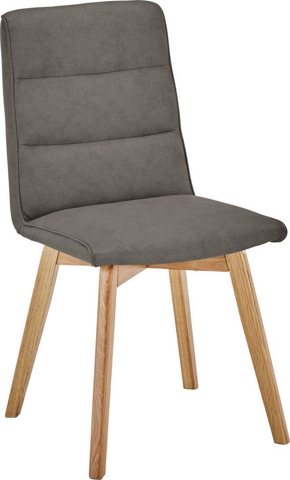 Stol Ellie - hrast/rjava, Moderno, tekstil/les (44/87/55,5cm) - Based