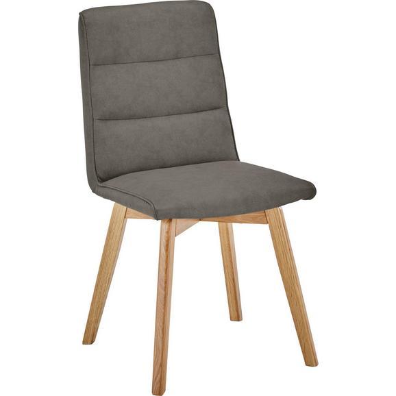 Stuhl in Braun - Eichefarben/Braun, MODERN, Holz/Textil (44/87/55,5cm) - Based