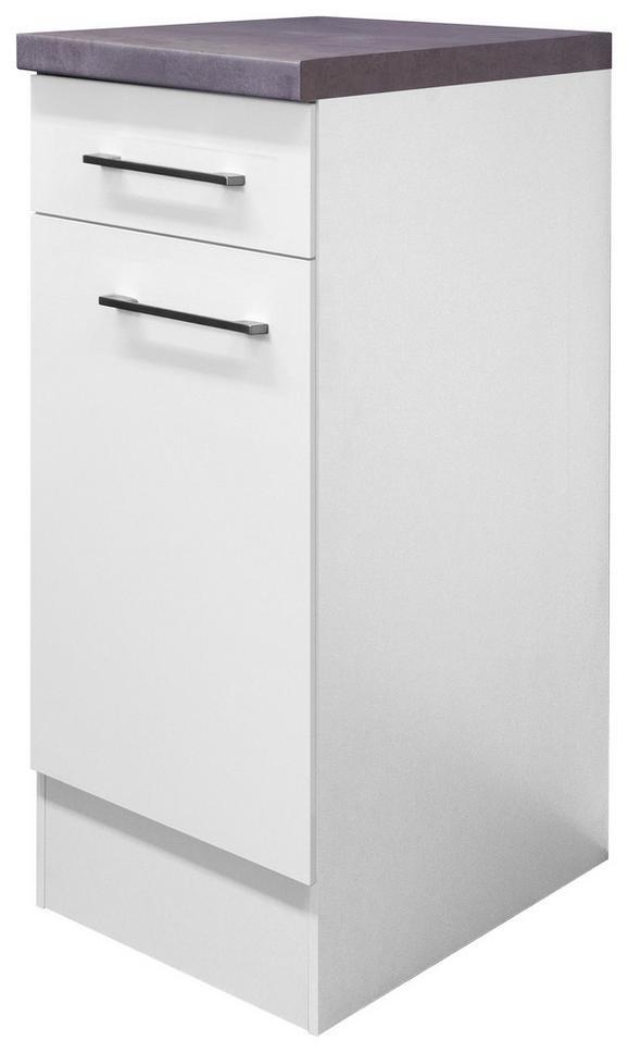Kuhinjska Spodnja Omarica Neo - bela/nerjaveče jeklo, Moderno, kovina/leseni material (30/86/60cm)