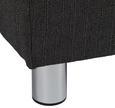 Boxspringbett Tom 180x200cm inkl. Topper - Chromfarben/Anthrazit, MODERN, Textil/Metall (221/188/118cm) - MÖMAX modern living