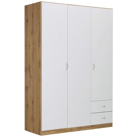 Kleiderschrank in Eichefarben - Eichefarben/Alufarben, MODERN, Holz/Holzwerkstoff (135/197/54cm) - Modern Living