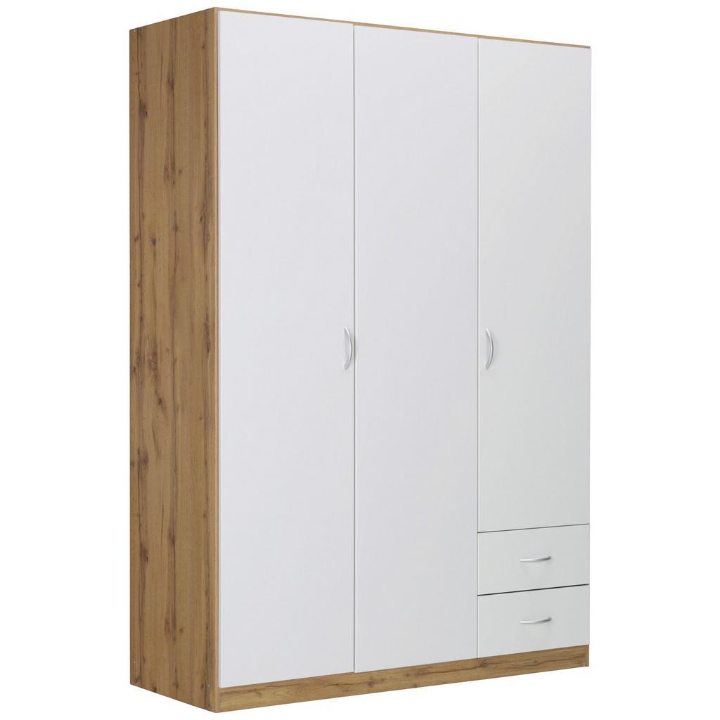 Kleiderschrank Weiß/Wotan Eiche