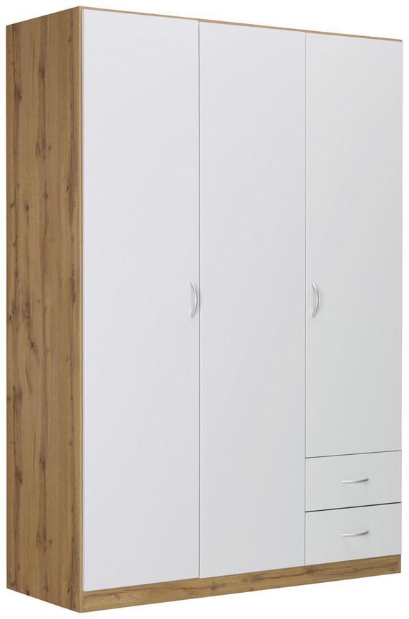 Omara Za Oblačila Case - aluminij/hrast, Moderno, umetna masa/leseni material (135/197/54cm) - Modern Living