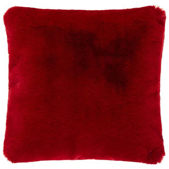 Fellkissen Liz ca. 45x45cm - Bordeaux, MODERN, Textil (45/45cm) - Premium Living