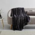 Decke S'oliver ca. 150x200 cm in Dunkelgrau - Dunkelgrau, MODERN, Textil (150/200cm) - S. Oliver
