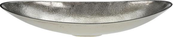 Dekoschale Becca Silberfarben - Silberfarben, MODERN, Metall (50/18,5/9,5cm)