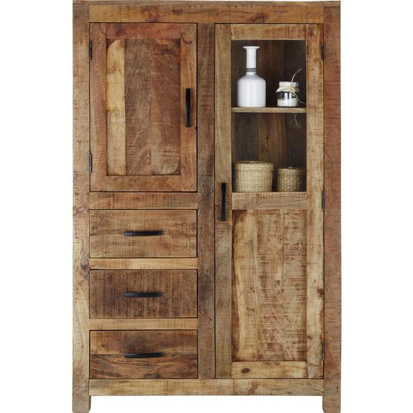 Highboard in Naturfarben Massiv - Naturfarben, LIFESTYLE, Holz (95/147/47cm) - Zandiara