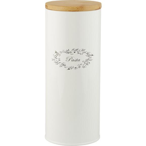 Box mit Deckel Lore Weiß Echtholz - Weiß, ROMANTIK / LANDHAUS, Holz/Metall (11/27cm) - Zandiara