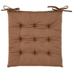 Sitzkissen Lola in Nougat ca. 40x40cm - Braun, Textil (40/40/2cm) - Based