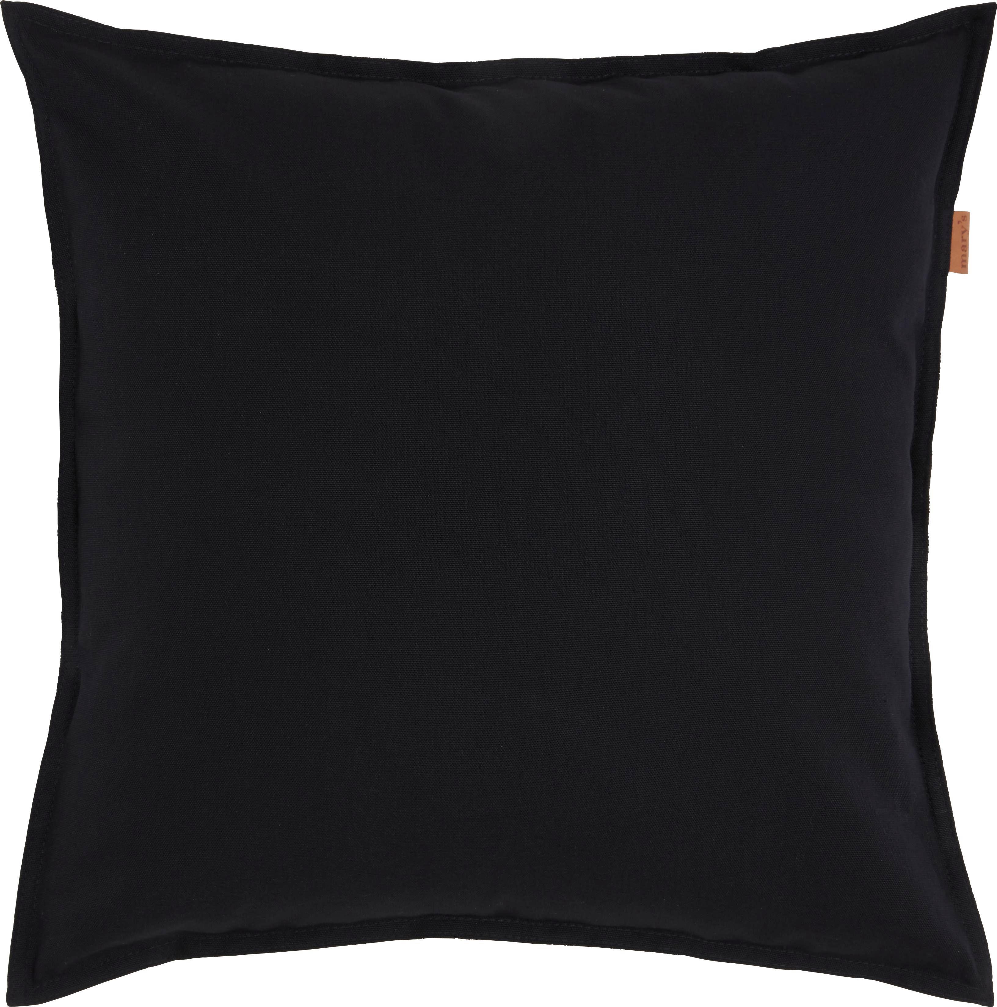 Kissenhülle Jenni Panama, ca. 45x45cm - Schwarz, MODERN, Textil (45/45cm)