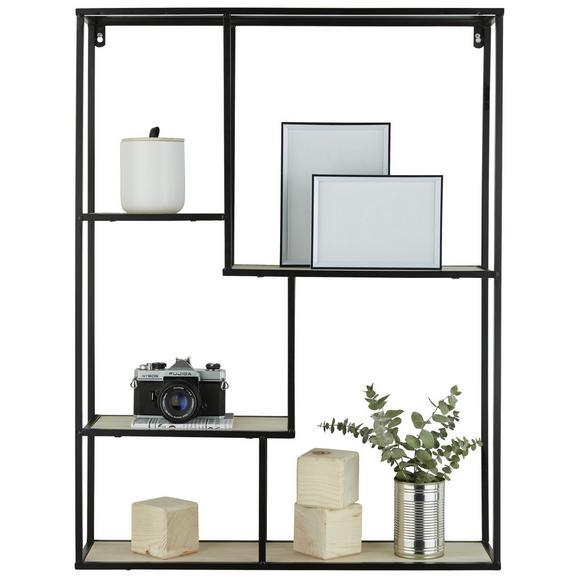 Wandregal in Schwarz - Schwarz, LIFESTYLE, Holzwerkstoff/Metall (60/78/15cm) - Modern Living