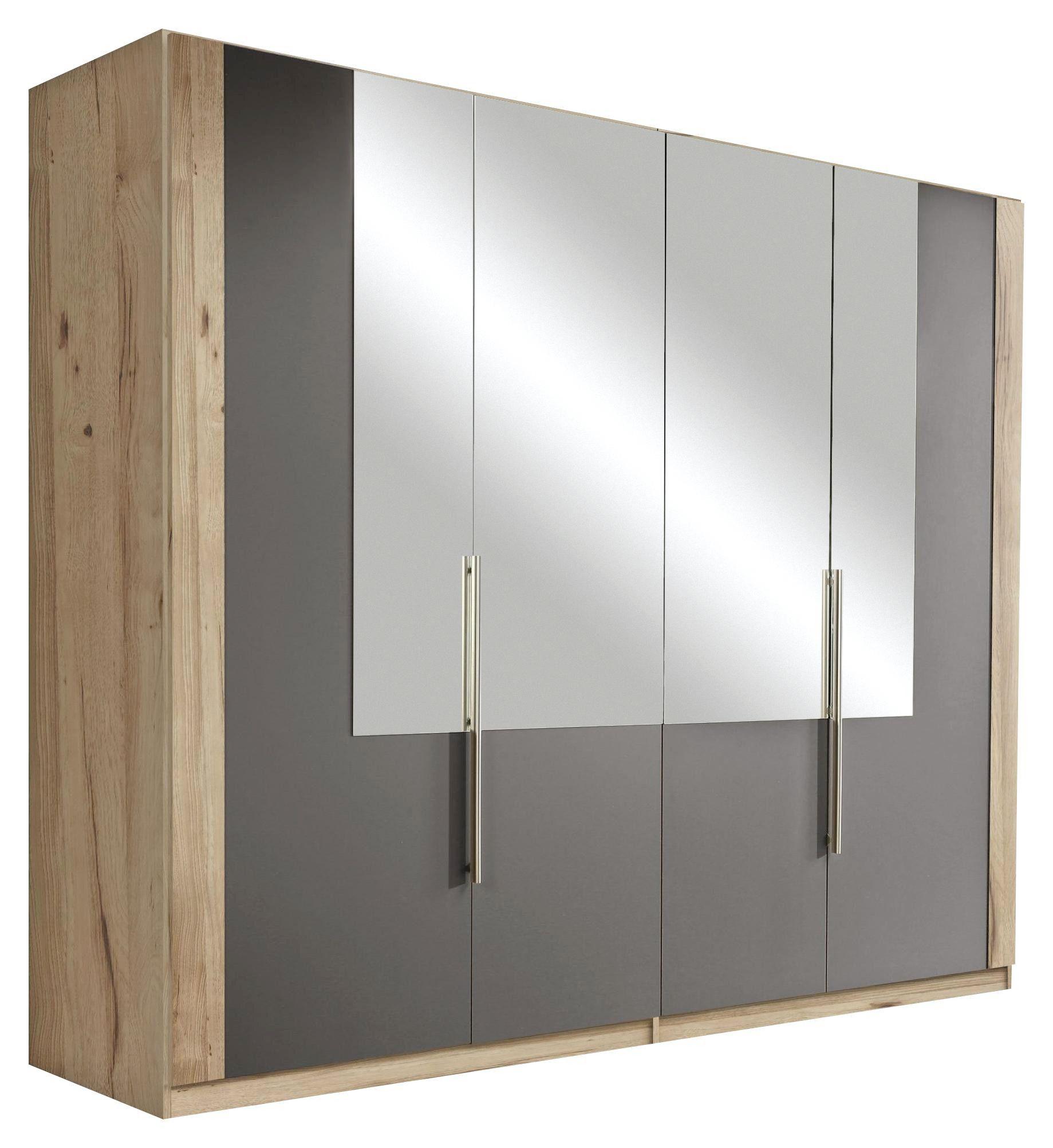 Omara S Klasičnimi Vrati Complete - aluminij/siva, Moderno, umetna masa/steklo (228/213/60cm) - Mömax modern living