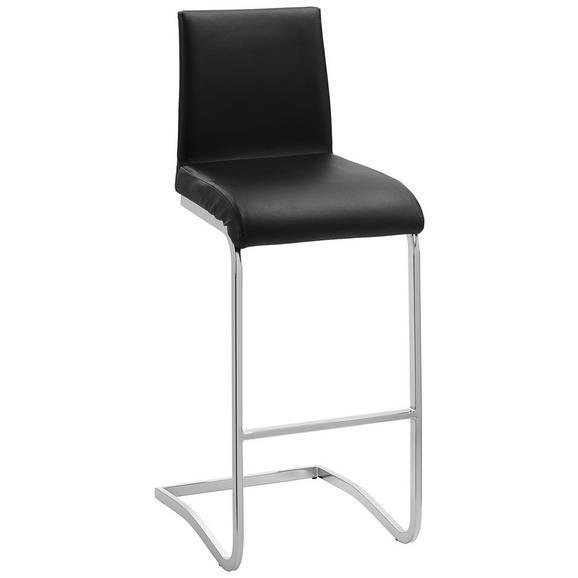Barski Stol Ida - črna/srebrna, Moderno, kovina/umetna masa (46/40/105cm) - Mömax modern living