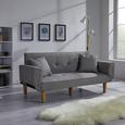 Sofa Miriam mit Schlaffunktion inkl. Kissen - Hellgrau, MODERN, Holz/Textil (176/71/85cm) - Modern Living
