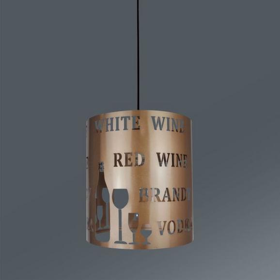Viseča Svetilka Kate - šampanjec, Trendi, kovina/umetna masa (23/130cm) - Mömax modern living