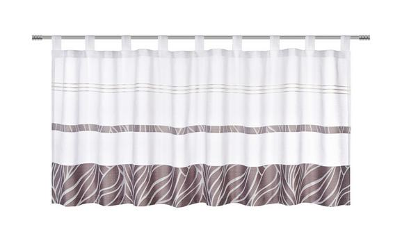Kurzgardine Anita in Grau, ca. 50x145 cm - Grau, KONVENTIONELL, Textil (50/145cm) - Mömax modern living