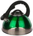 Čajnik Schicky - črna/zelena, kovina/umetna masa (2,8l)