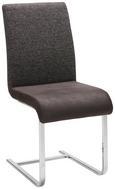 Schwingstuhl in Schwarz - Schwarz/Grau, MODERN, Textil (46/99/63cm) - Premium Living