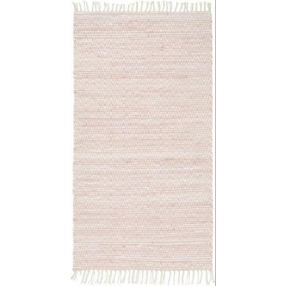 Handwebeteppich Mary in Rosa ca. 80x150cm - Rosa, ROMANTIK / LANDHAUS, Textil (80/150cm) - Mömax modern living