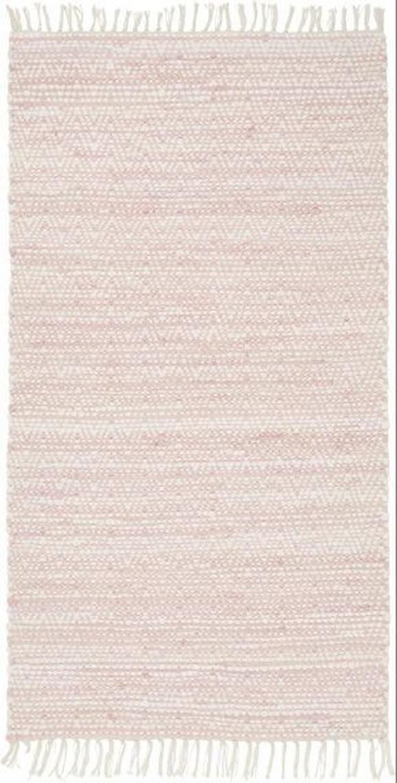 Handwebteppich Mary in Rosa, ca. 60x120cm - Rosa, ROMANTIK / LANDHAUS, Textil (60/120cm) - MÖMAX modern living