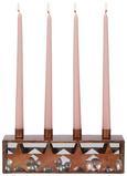 Kerzenhalter Marie Kupferfarben - Braun, Metall (12/32/8cm)