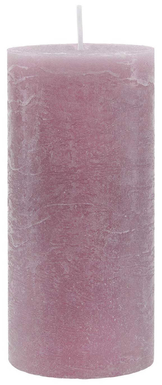 Stumpenkerze Lia Mauve - Violett, MODERN (6,8/15cm) - Mömax modern living