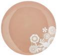 Dessertteller Lacey Rosa - Rosa, ROMANTIK / LANDHAUS, Keramik (20cm) - Mömax modern living