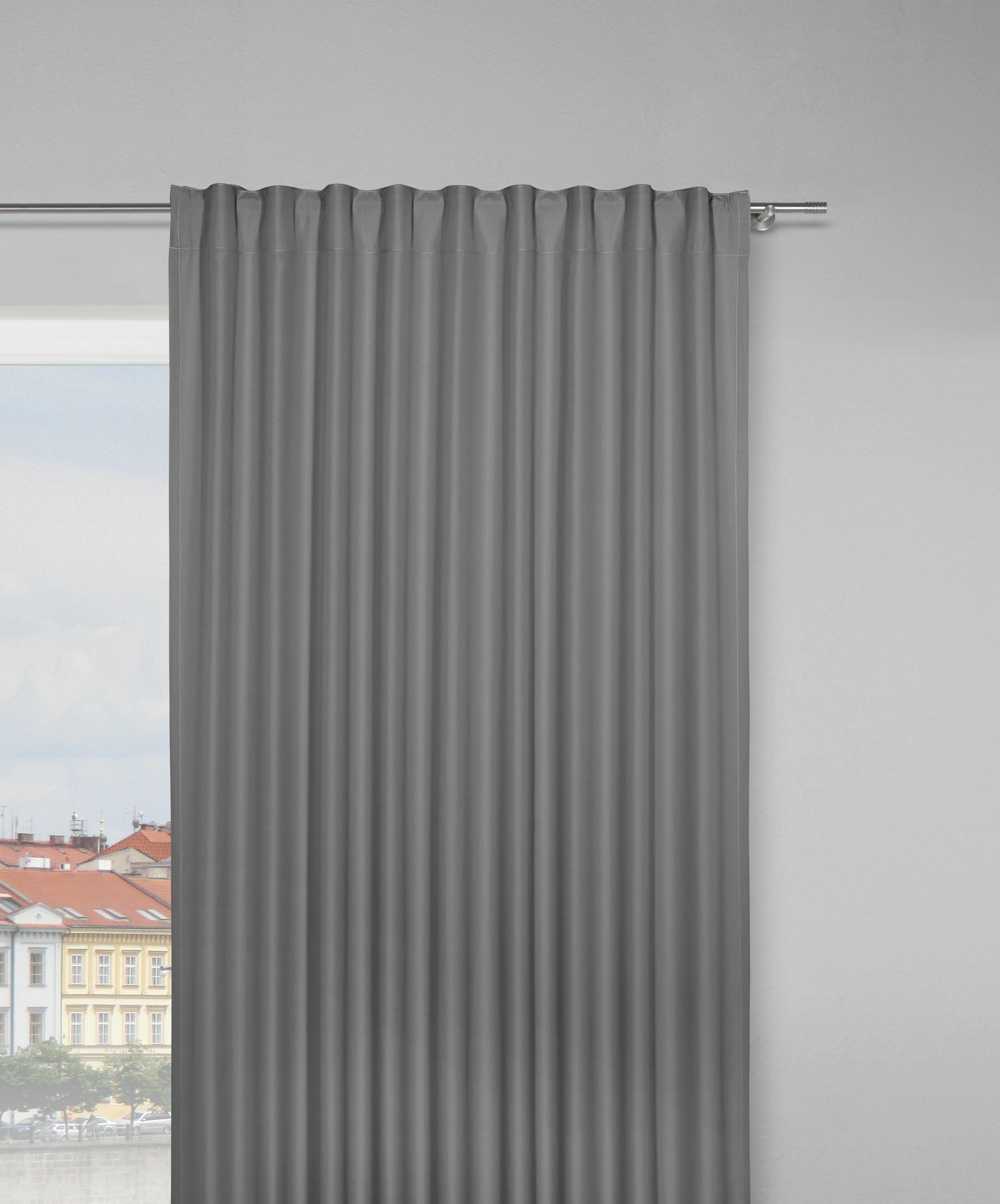 Fertigvorhang Gerd, ca. 140x250cm - Anthrazit, Textil (135/245cm) - MÖMAX modern living