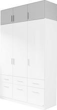 Nastavek Za Omaro Celle - aluminij/bela, Moderno, umetna masa/les (136/40/54cm) - Premium Living
