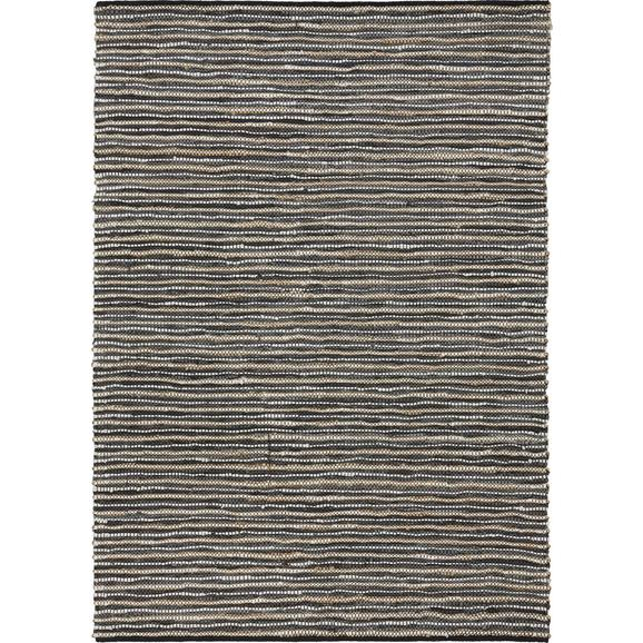 Handwebteppich Stefan Grau ca. 160x230cm - Grau, MODERN, Leder/Textil (160/230cm) - Mömax modern living