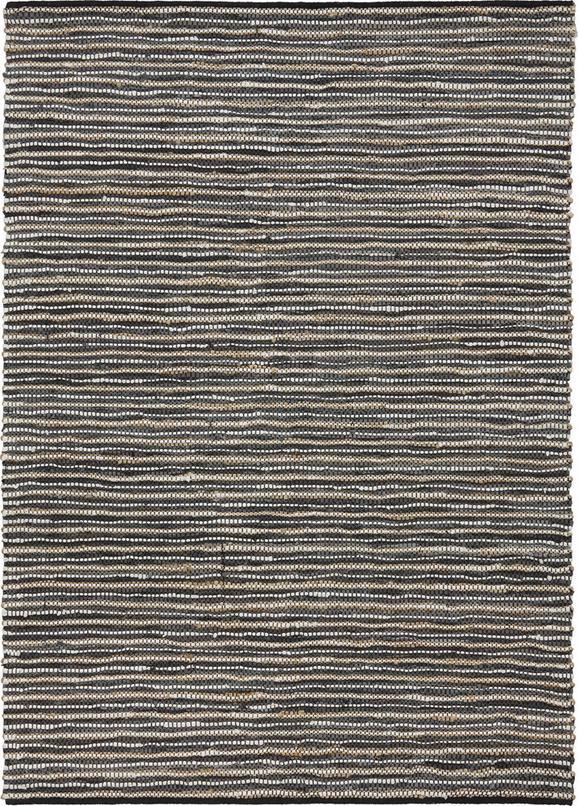 Handwebteppich Stefan in Grau ca. 160x230cm - Grau, MODERN, Leder/Textil (160/230cm) - MÖMAX modern living