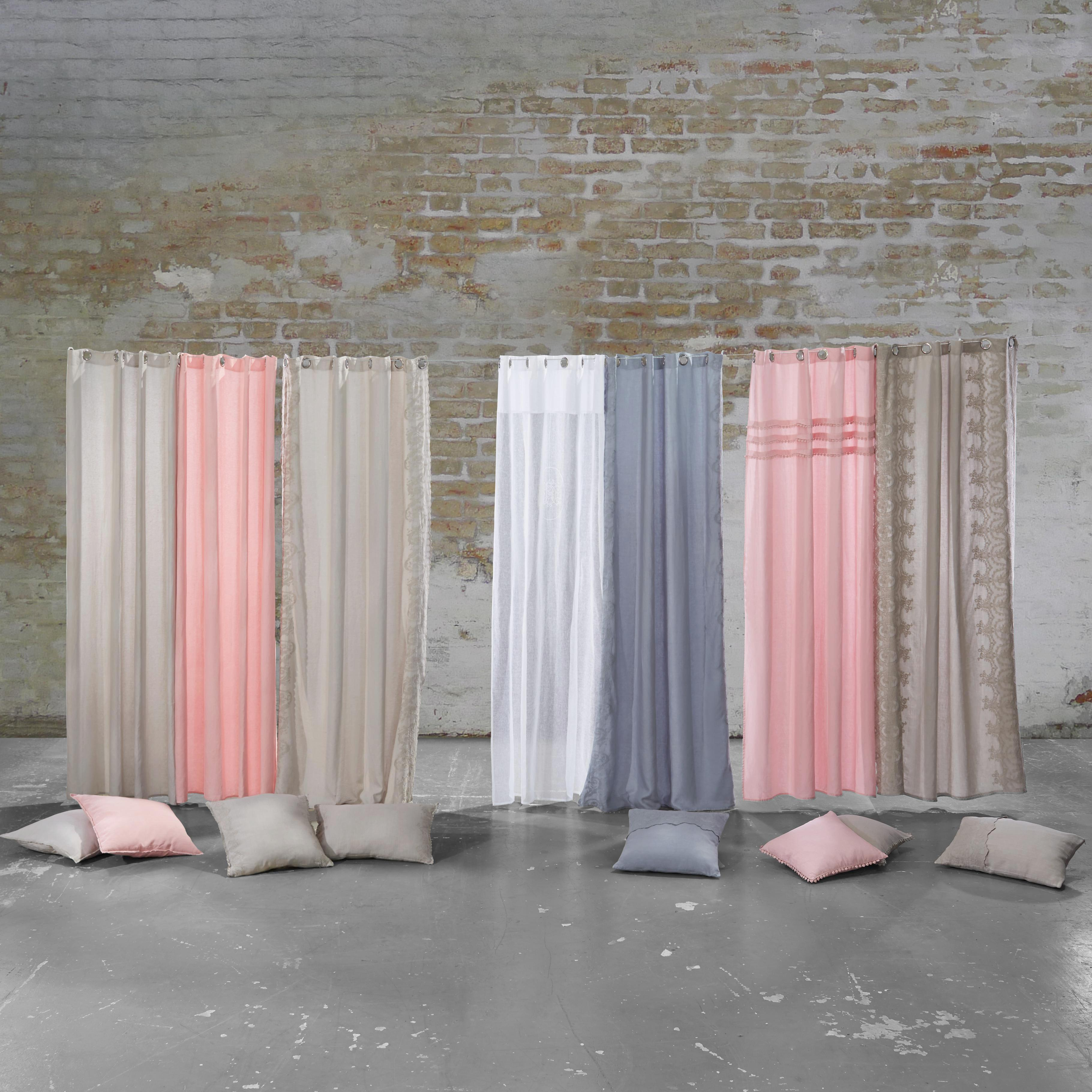 Baumwollvorhang Amalie 140x245cm - Weiß, ROMANTIK / LANDHAUS, Textil (140/245cm) - MÖMAX modern living