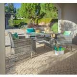 Lounge Garnitura Bari - temno siva/siva, kovina/umetna masa - Mömax modern living