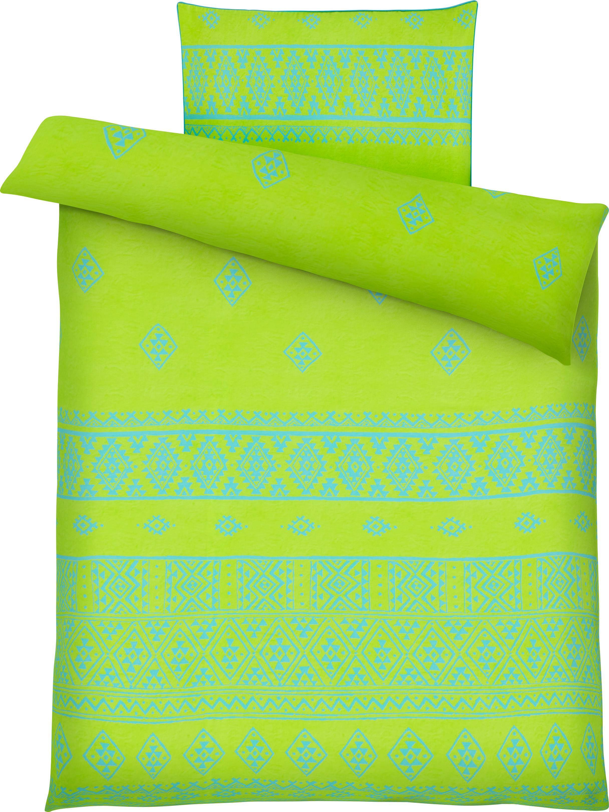 Bettwäsche Fabio, ca. 135x200cm - Limette, Textil (135/200cm) - MÖMAX modern living